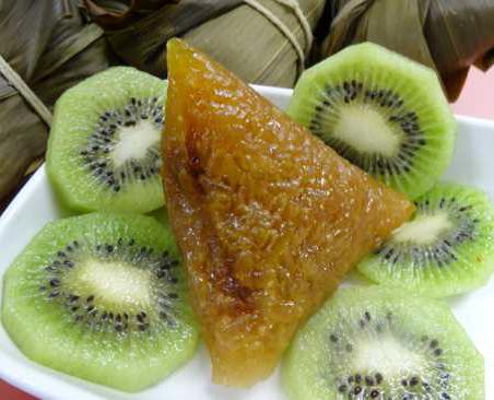 南瓜奇異果粽
