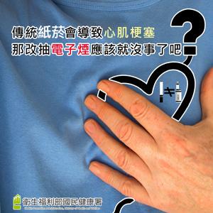 傳統紙菸會導致心肌梗塞,那改抽電子煙應該就沒事了吧?
