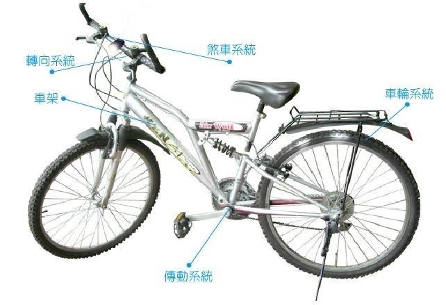 腳踏車結構